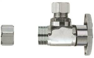 Plumb Pak Pp32 1pclf 1 4 Turn Transitional Angle Supply Line Valve 1 2 X 3 8