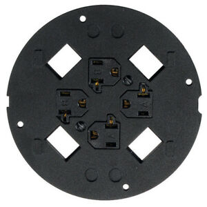 Hubbell S1sp4x4 System One 4 X 4 Sub plate Black