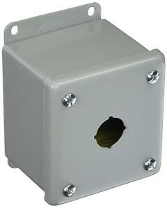 Hoffman E1pbg Enclosure For 1 22 5mm Pushbutton Steel Gray