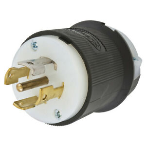 Hubbell Hbl2811 Male Locking Plug 30 Amp 120 208v