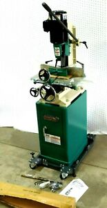 New Grizzly G0448 1 5 Hp Heavy duty Mortising Machine On Stand Rolling Base