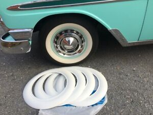 Coker Tire Style 4x15 Tire Rubber White Wall Trim 2 Wide Chevy Bel Air 150 210