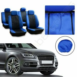 Black Blue Double Compound Embossed Cloth Car Auto Seat Covers For Chrysler