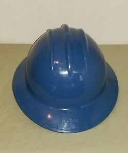 Bullard Adjustable 6 1 2 8 Liner Blue Hard Plastic Full Brim