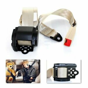 For Nissan Car Bus 3 Point Safety Retractable Seat Belt Universal Strap Beige