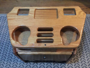 1992 1996 Chevy Astro Gmc Safari Van Large Deluxe Console Cover Wood Drink Tray