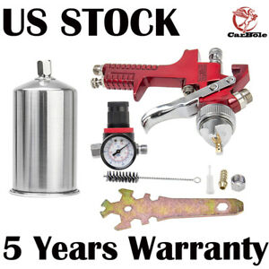 1 4mm Hvlp Gravity Feed Spray Gun Kit W Regulator Auto Paint Primer Metal Flake