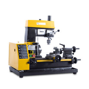 220v 180w Multi function Mini Lathe Machine Desktop Diy Drilling Milling Machine