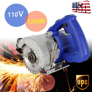 1250w Miter Sawing Cutter Marble Metal Wood Tile Saw Cutting Machine Hand held