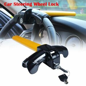 Eforcar 1 Pcs Universal Anti theft Car Auto Security Rotary Steering Wheel Lock