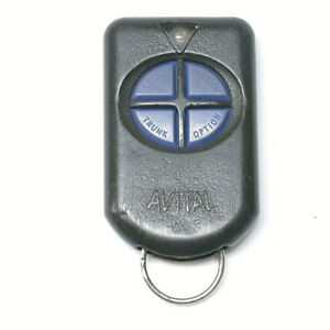 Avital Keyless Entry Remote Transmitter Key Fob H50t04 4 Button Red Led
