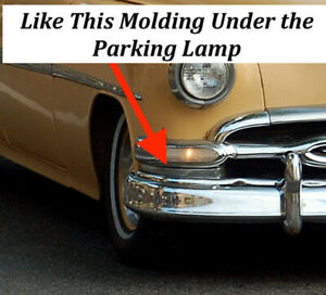 Pontiac 1954 Molding Under The Parking Lamp Rh Re chromed 21