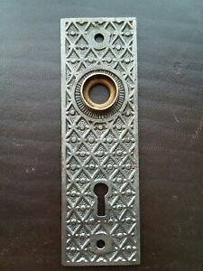 Antique Victorian Eastlake Door Knob Back Plate Escucheon Kenton