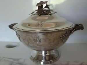 Antique French Sterling Silver Soup Tureen Pot Bowl