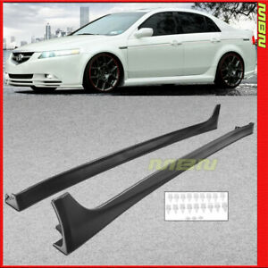 Jdm Style Side Skirts 2009 2014 For Acura Tsx Rocker Molding 4d Aerodynamic Trim