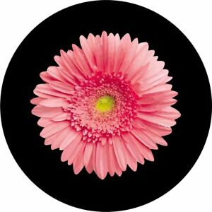 Pink Flower Spare Tire Cover Any Size Any Vehicle Camper Trailer Rv