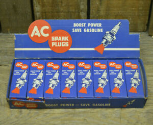 1950 52 Buick Nos Ac Spark Plugs 46x Straight 8 Cyl Gm Hot Rod Vintage Old Delco
