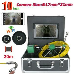 1000 Tvl 20m 10 Wifi Wireless 17mm Inspection Video Camera 8pcs Led Lights