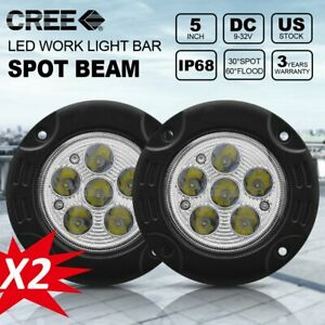 Flush Mount Round Led Fog Light 18w Led Spot Work Light Off Road Driving Light