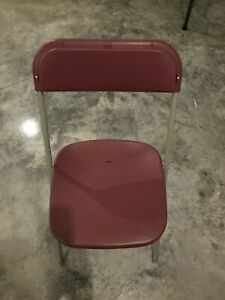 Banquet Party Fold Up Chairs Lot Of 50 Burgundy