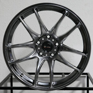 4 new 17 Vors Tr4 Wheels 17x8 5x114 3 35 Hyper Black Rims