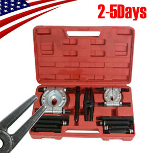 Professional 12pcs Bearing Splitter Gear Puller Fly Wheel Separator Set Tool Kit
