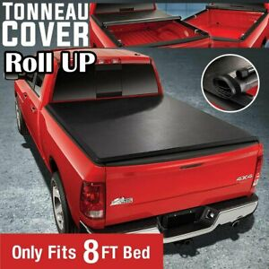 For 88 07 Chevy Silverado Sierra Superduty 8ft Bed Lock Roll Up Tonneau Cover