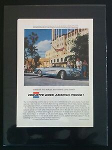 1958 Chevrolet Corvette Nassau original gm Car Ad Print ready To Display gift