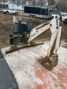 907 Bobcat Backhoe Attachment Used 1 Foot Bucket Working Condition