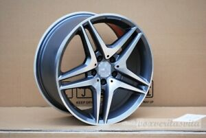18 Amg Gunmetal Style Wheels Rims Fits Mercedes Benz Cls500 Cls550 Cls55