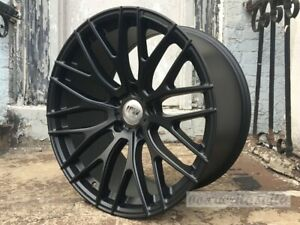 19 Staggered 8 5 9 5 Matte Black A1 Mesh Concave Style Wheels Rims 5x114 3