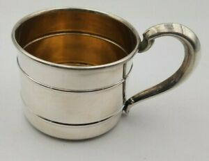 Unique Vintage Webster Sterling Silver Baby Cup W Gold Wash Interior 6422