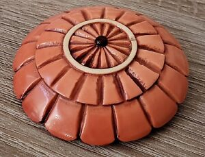Vintage Button Huge 2 1 2 Celluloid Looks Like The Top Of A Parasol Neat