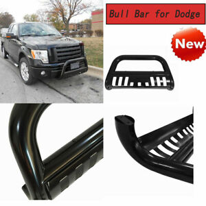 Black Powder Coated Bull Bar With Skid Plate For Dodge Ram 1500 1994 2001