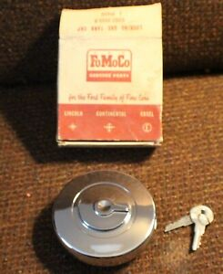 1960 1966 Ford Falcon Nos Chrome Locking Gas Cap With Key Codz 9030 B Comet