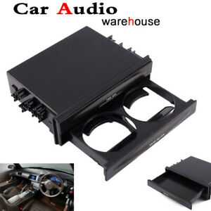 Car Auto Supplies Double Din Storage Cup Holder With Drawer Plastic Universal