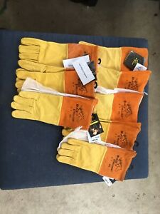 8 Pairs Black Stallion 27 Premium Pigskin Mig Welding Gloves Long Cuff 2xl