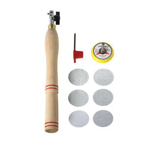 Wood Bowl Sanding Tool And 2 Mini Round Abrasive Sand Pad Discs New Parts