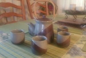 Rare Vintage Japanese Pottery Tea Set From 1960 S
