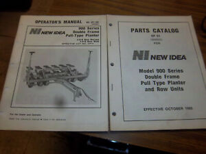 New Idea 900 Double Frame Planter Parts operator Manual cp13 16 19 orig 1985 lot