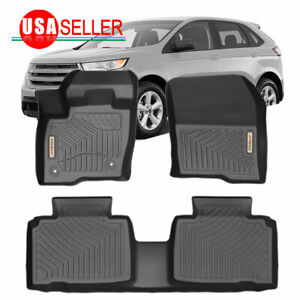 Car Floor Mats For 2015 2019 Ford Edge Heavy Duty Rubber Custom Fit Floor Liners
