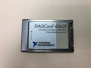 National Instruments Daq Card 6062e Ni Daq Pcmcia 12 bit I o Card