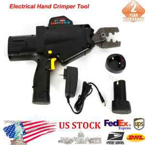 Electrical Tools Hand Crimpers 110v Charger Cable Wire Terminal Crimper Black