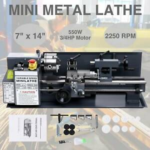 550w 7 X 14 mini Metal Lathe Machine Variable Speed 0 2500 Rpm High Precision