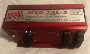 Msd Ignition Box 7al 3 Excellent Condition Free Shipping