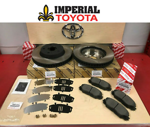 2012 2017 Prius V Front Genuine Toyota Brake Kit Oem Rotors Tcmc Pads