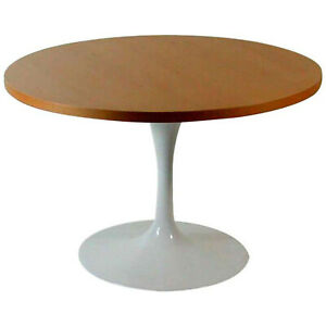 Eero Saarinen Knoll International Cherrywood Tulip Base Side Table 1950s 1960s