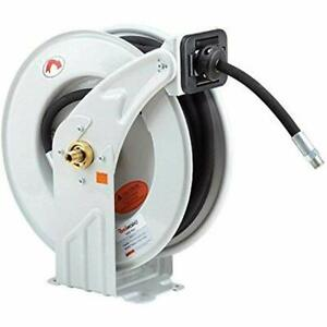 Reelworks Heavy Duty Spring Driven Hose Reel 1 2 X 50 Ft Dual Oil Reel