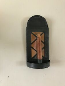 Early Primitive Wall Tin Candle Sconce