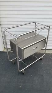 Mdt Wilson Stainless Steel Bassinet Cart With Drawer 33 w X 16 d X 34 1 2